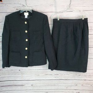 Susan Bristol Suit jacket and skirt Wool Blend 14